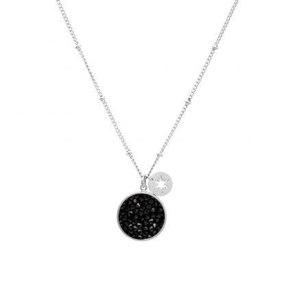 Collier acier Cristal Noir Swarovski® - Bohm