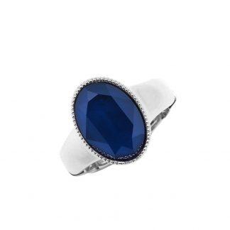 Bague élastique Cristal Bleu Swarovski® - Bohm