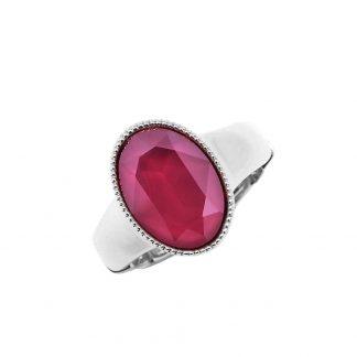 Bague élastique Cristal Rose Swarovski® - Bohm