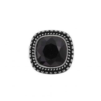 Bague Bohm Cristal noir jet Swarovski® - Réglable