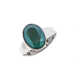 Bague élastique Cristal Vert Swarovski® - Bohm
