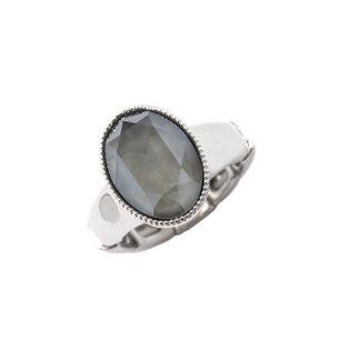 Bague élastique Cristal Gris Swarovski® - Bohm