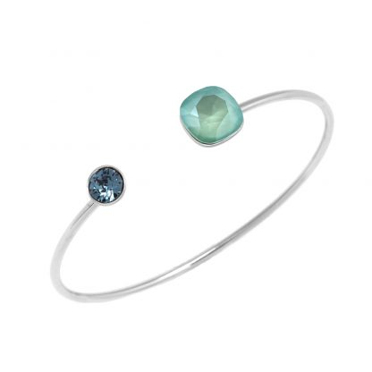 Bracelet Jonc Cristal Vert Swarovski® - Bohm - Acier