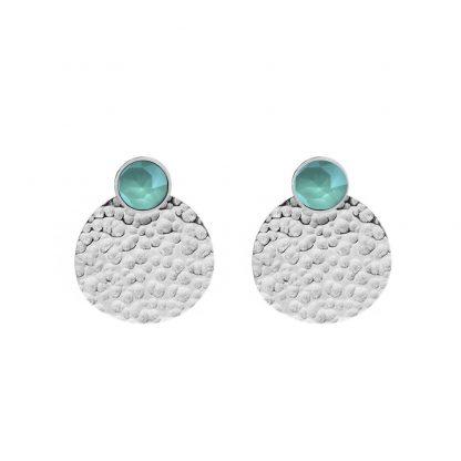 Boucles d'oreilles Cristal vert Swarovski® - Bohm - Acier argenté