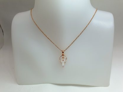Chaîne pendentif Grappe Zirconiums - Placage Or rose 2 microns - Bijorelle